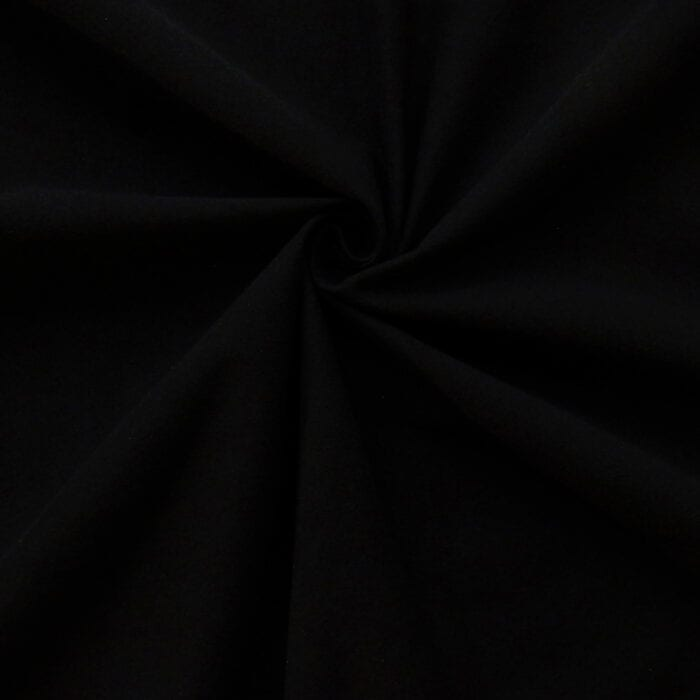 Fire Retardant Fabric 9oz Duvetyne Black 25 yard roll