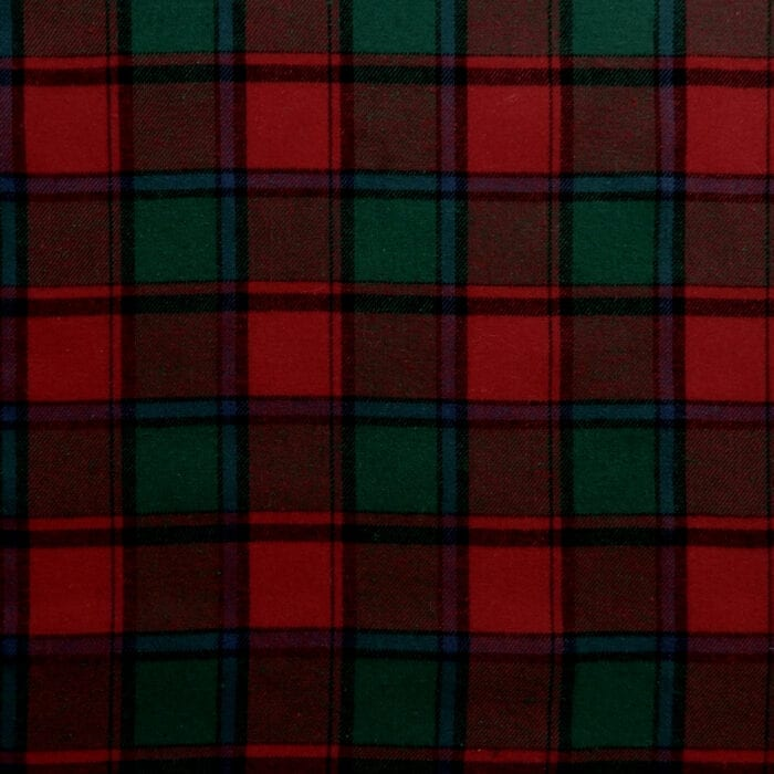 Flannel Yarn Dyed Plaid Fabric Lester Red-Green, by the yard