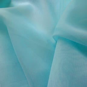 118″  Wide Sheer Voile Fabric Aquamarine, by the yard