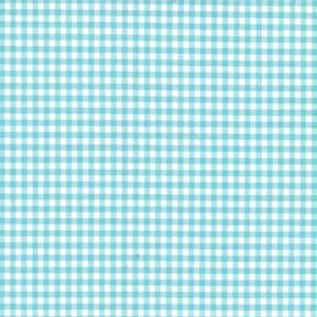 Sale 45″ Gingham Fabric Small Check Aqua by the yard