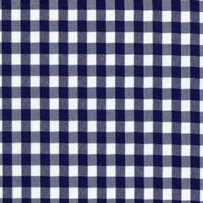 Sale 45″ Gingham Fabric Large Check Navy by the yard