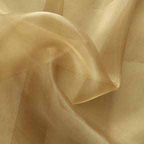 Twinkle Twinkle Organza Fabric Burnished Gold, by the yard