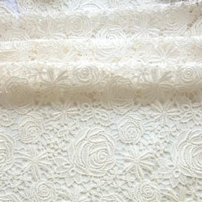Rose Venice Lace Fabric Off White 15 yard bolt