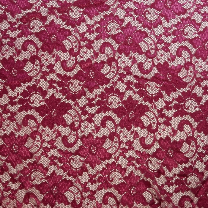 SALE Stretch Floral Lace Fabric 2309 Azalea, by the yard