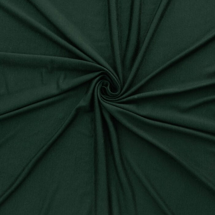 SALE Stretch Rayon Jersey Fabric 2669 Hunter Green, by the yard