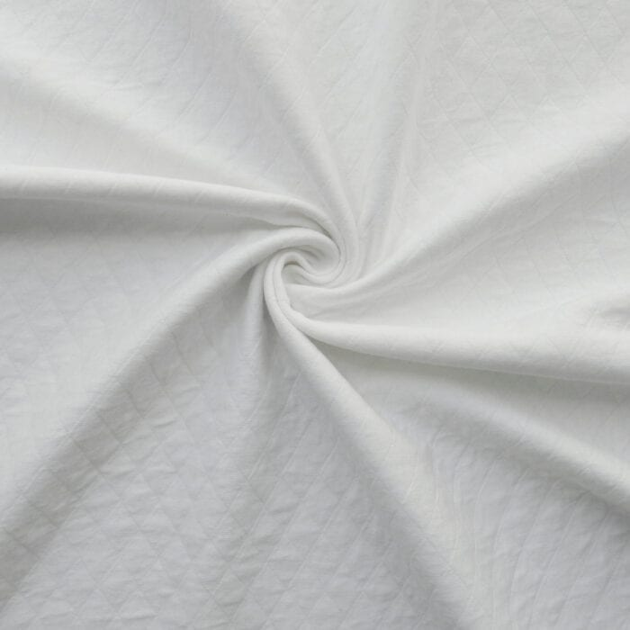 SALE Diamond Quilted Fabric 4013 White, by the yard