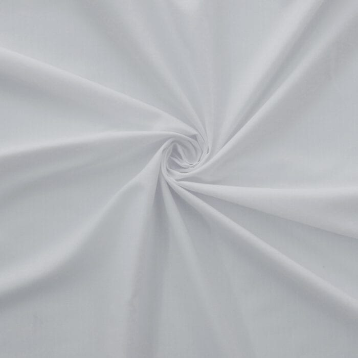 SALE Soft Finish Cotton Blend 4056 White, by the yard