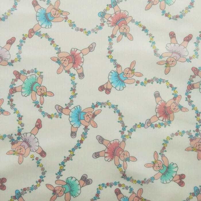 SALE Ballet Piglets Vinyl Tablecloth Fabric, by the yard
