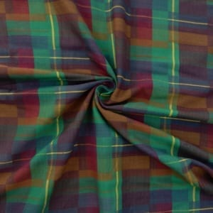 Fabric Traditions Yarn Dyed Brushed Plaid Fabric 5103 Multi, by the yard